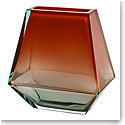 "Moser Crystal City Vase 9.8"" Beryl and Orange"