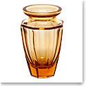 """Moser Crystal Eternity Bud Vase 4.5"""" Topaz"""