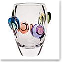 """Moser Crystal Galaxy Vase 11.8"""" Multicolor"""