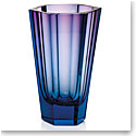 "Moser Purity 11"" Vase Aquamarine Rose"