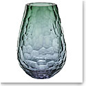 "Moser Crystal Stones Vase 12.2"" Alexandrite and Green"
