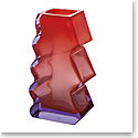 "Moser Crystal Softhard Vase 12"" Alexandrite and Orange"