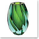 "Moser Crystal Twist Vase 8.3"" Beryl and Reseda"