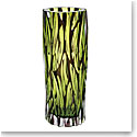 "Moser Crystal Wood Vase 11.4"" Wedge Cuts, Multicolor"
