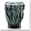 Lalique Crystal, Bacchantes Large Crystal Vase, Grey