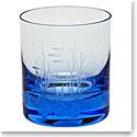Moser Crystal Whisky D.O.F. 12.5 Oz. Ocean Life #3 - Aquamarine