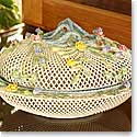 Belleek China Oval Covered Basket