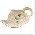 Belleek China Shamrock Teapot Spoon Rest Holder
