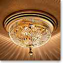 "Waterford Crystal, Beaumont Brass 12"" Ceiling Fixture"