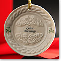 Belleek China Celtic Blessing Ornament