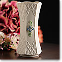 "Belleek China Trellis Forget Me Not 7"" Vase"
