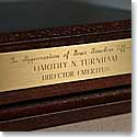 Hartmans Brass Plaque With Engraving 3 1/2""