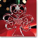 Cashs Ireland, 2017 Shamrock Christmas Crystal Ornament