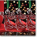 Cashs Ireland, 2017 Three Sisters Angel Crystal Ornament Set