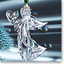 Cashs Ireland, 2018 Angel with Heart Crystal Ornament