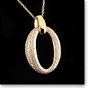 Cashs Ireland, Crystal and 18k Gold Cocktail Pendant Necklace