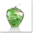 Cashs Art Glass Forty Shades of Green, Apple Paperweight