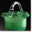 Cashs Art Glass Forty Shades of Green, Basket