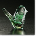 Cashs Ireland, Art Glass Forty Shades of Green, Bird Paperweight