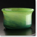 Cashs Art Glass Forty Shades of Green, Small Bowl