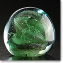 Cashs Art Glass Forty Shades of Green, Large Paperweight