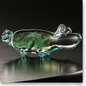 Cashs Art Glass Forty Shades of Green, Pig Paperweight