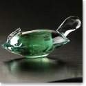 Cashs Art Glass Forty Shades of Green, Turtle Paperweight