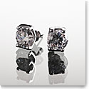 Cashs Crystal Sterling Silver Modern Solitaire Pierced Earrings Pair