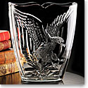 Cashs Ireland, Art Collection American Eagle Crystal Vase, Limited Edition