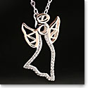 Cashs Sterling Silver and Gold Angel Pendant Necklace