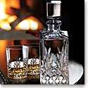 Cashs Ireland, Annestown Single Malt Whiskey Tasting Set, Crystal Decanter, Pair of Crystal Whiskey Glasses