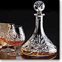 Cashs Crystal Annestown Captain's Set, Ships Decanter and Pair of Brandy Glasses