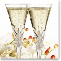 Cashs Crystal Annestown Champagne Toasting Flutes, Pair