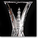 Cashs Crystal Art Collection Lighthouse Series, Any Port Vase