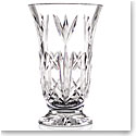 "Cashs Ireland, 10"" Bellflower Footed Bouquet Crystal Vase"