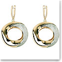 Cashs Ireland Bond 18k Gold and Crystal Earrings, Pair