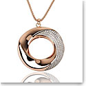 Cashs Ireland Bond 18k Gold Pendant Circle Necklace, Large