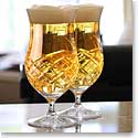 Cashs Ireland, Crystal Brewers Ale Beer Glasses, Pair