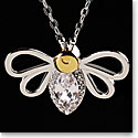Cashs Sterling Silver and Gold Bumblebee Pendant Necklace
