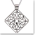 Cashs Ireland, Sterling Silver Trinity Knot Diamond Pendant Necklace