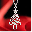 Cashs Ireland, Sterling Silver Modern Christmas Tree Pendant Necklace
