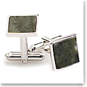 Cashs Ireland, Connemara Marble Square Cufflinks, Pair