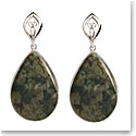 Cashs Ireland, Connemara Marble Trinity Drop Earrings, Pair