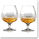 Cashs Ireland, Cooper Large Crystal Brandy Glasses, Pair