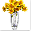 "Cashs Ireland Art Collection, Cooper Diamond 11"" Crystal Vase"