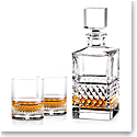 Cashs Ireland, Cooper Single Malt Whiskey Set, Crystal Decanter, Pair of Crystal Whiskey Glasses