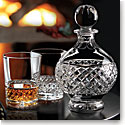 Cashs Crystal Cooper Round Decanter and Single Malt Pair Set