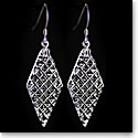 Cashs Ireland, Crystal Diamond Kerry, Drop Earrings, French Hook, Pair