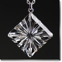 Cashs Ireland, Diamond Newgrange Pendant Crystal Necklace, Large