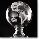 Cashs Ireland, Crystal Art Collection, World Globe With Base, Limited Edition